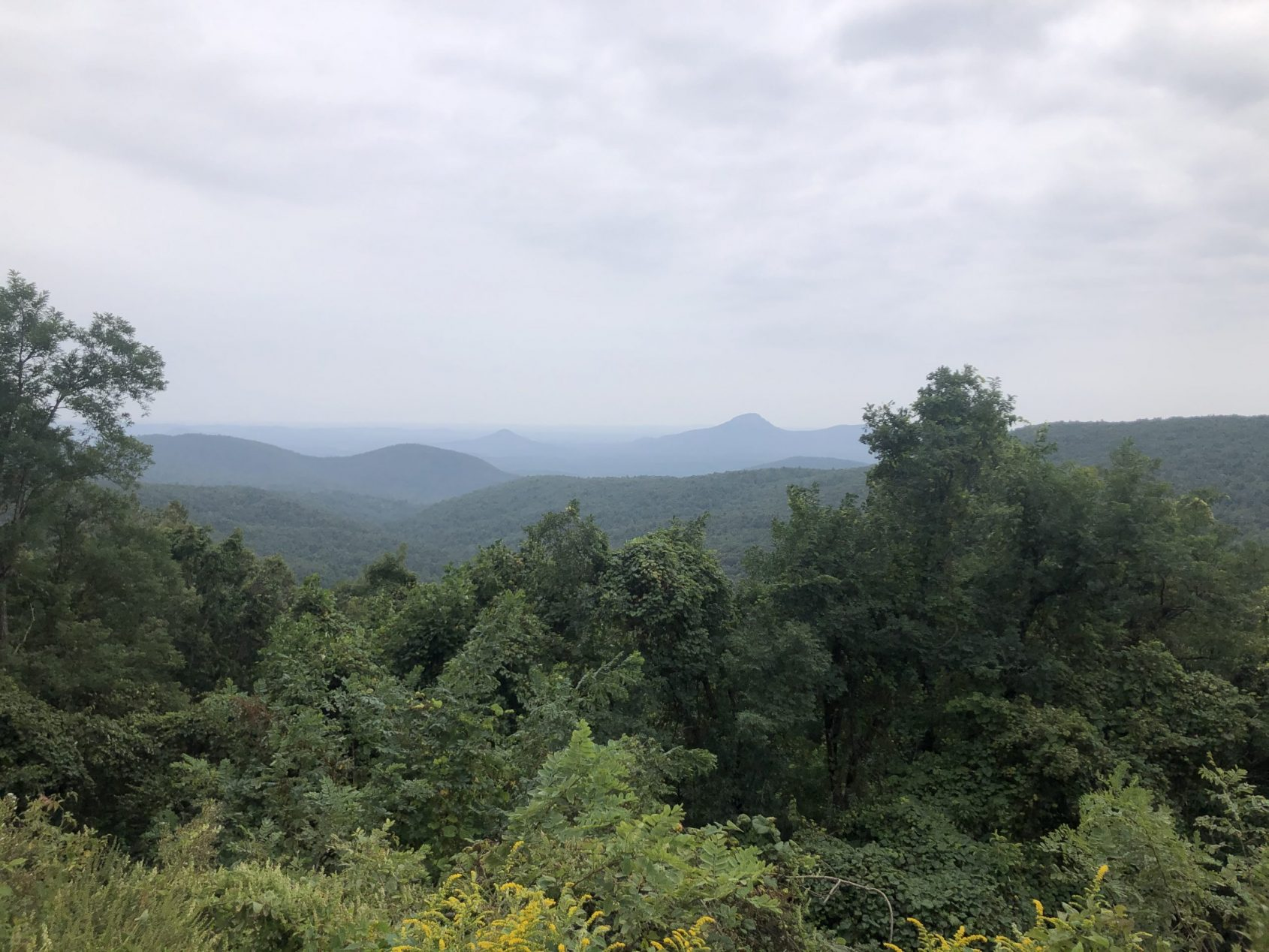 Blue Ridge Mountain View for sustainable travel