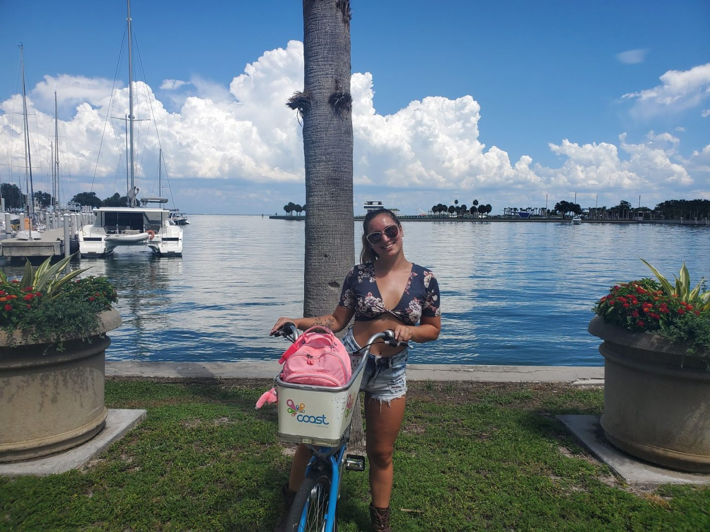 Biking in downtown St. Petersburg, Florida