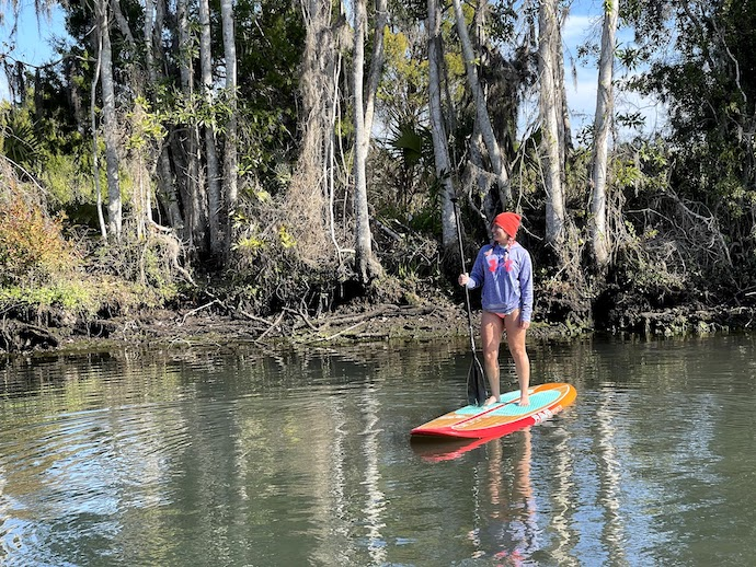 Paddle boarding in Crystal River