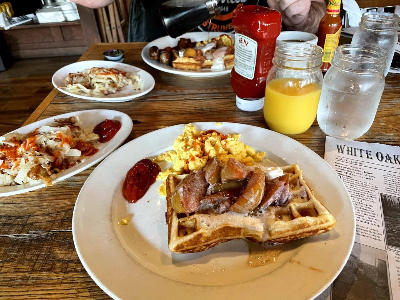Breakfast at Crockett's Breakfast Camp in Gatlinburg, Tennessee