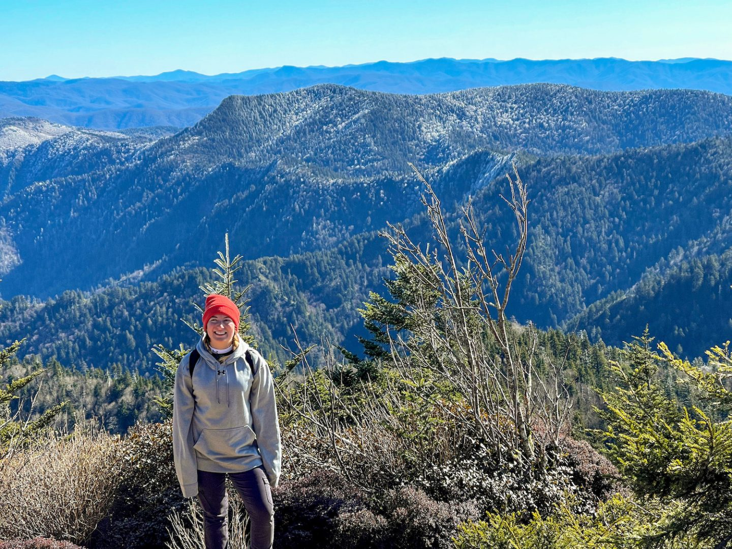 Hiking Mt Le Conte in Great Smoky Mountain National Park
