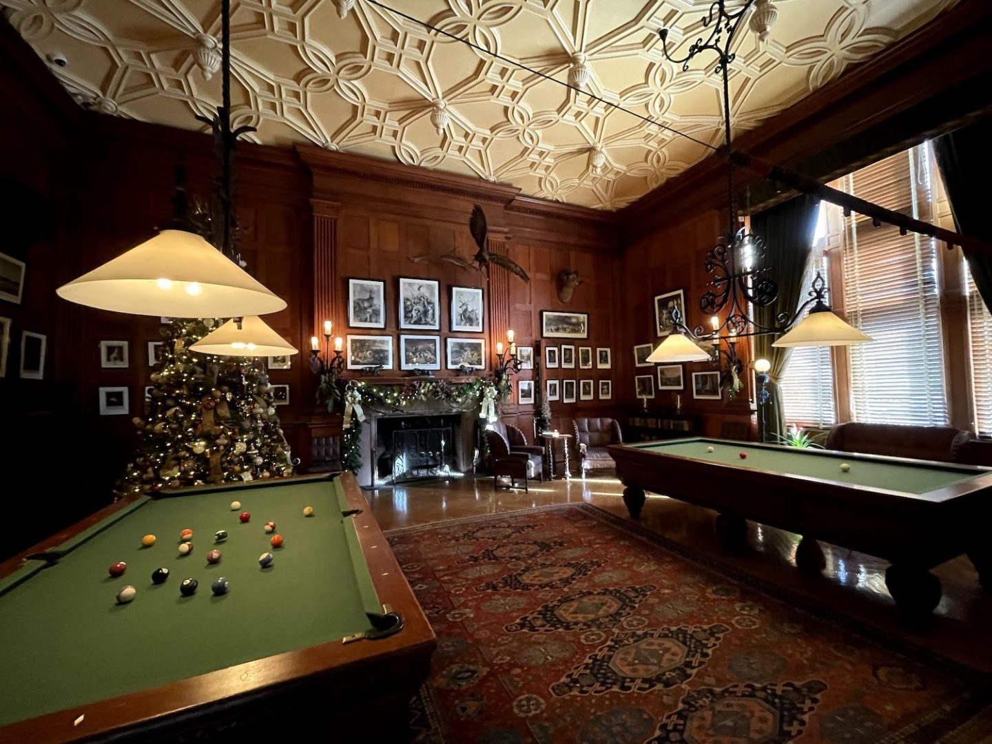 Billiards room at the Biltmore House