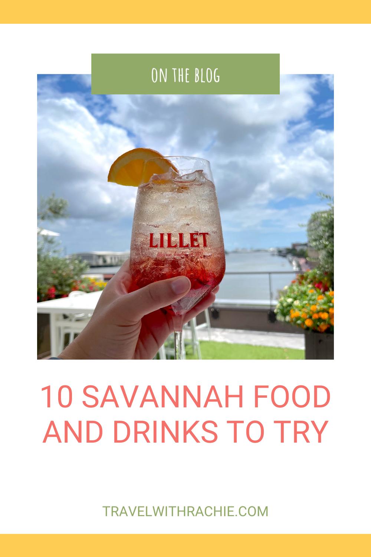 Pinterest Pin Savannah Food and Drink