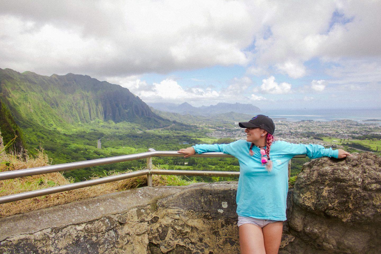 Nu'uanu Pali Lookout Scenic Spot Oahu